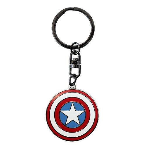 Marvel Avengers Captain America Shield Keyring Metal Keychain Fob